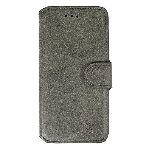 """xhorizon® Neu Blume Blatt Stil Brieftasche Folio Flip Magnetic Ständer Leder Tasche Case Hülle mitKreditkarteninhaber für 4.7"""" iPhone 6 Tiefgrün"""