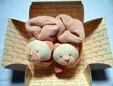 Doudou et Cie Chaussons Ours Macaron Praline