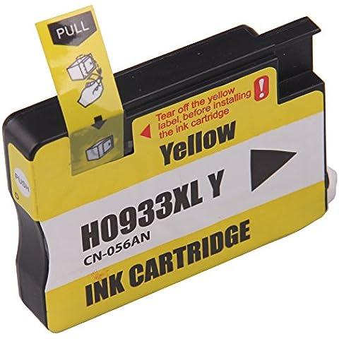 Bavvo® Cartucho de tinta refabricado para usar en lugar de HP 933XL(Amarillo) use in HP Officejet 7100
