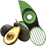 Coupe Avocat, 3 en 1 Éclaboussures Vertes Pits Tranches Poire Sharp Fruit Avocat Mango Papaya Pitter Peeler