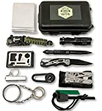 Felbridge Green 12 en 1 Kits de Supervivencia de Emergencia multifuncionales para Acampar,...