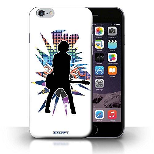 KOBALT® Hülle Case für iPhone 6+/Plus 5.5 | Windmill Schwarz Entwurf | Rock Star Pose Kollektion Gefühl/Emotion Weiß