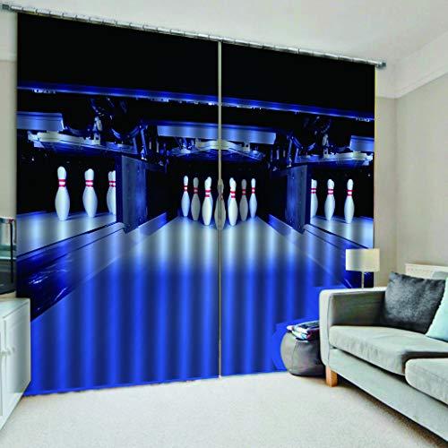 er Bowling Muster Druck Wohnzimmer Einfach Innentemperatur Einzustellen 2xL135xH225cm ()