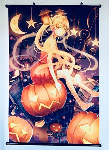 nd Vocaloid Hatsune Miku Halloween Special Stoffposter Rollbild Plakat Tapete Wandposter Wohnung Dekoration Geschenk Home Design Wall Decoration Fantasy Nature Wallscroll Collection Present 60x90CM (Halloween Miku)