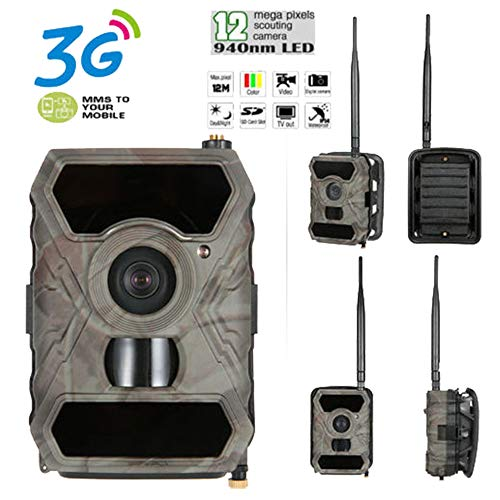 P Digital Hunting Camera 940NM Trail Game Camera 3G Network SMS/MMS Night Vision 56pcs IR LED ()