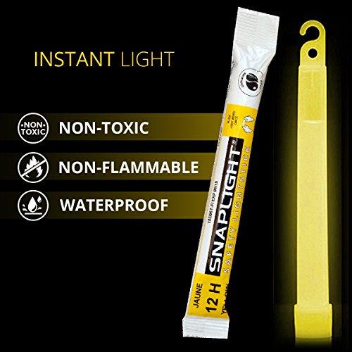Imagen 2 de Cyalume CM-4MZB-7TBR - Barras de luz amarillo SnapLight Glow Sticks 15 cm, 6 Inch Lightstick super brillante con duración de 12 horas (Caja de 10)