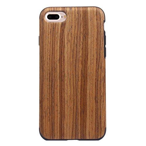 YAN Für iPhone 7 Plus Teak Holz Korn Paste Haut Soft TPU Schutzhülle ( SKU : IP7P8000B ) IP7P8000A
