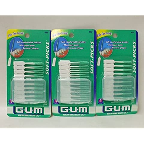 G-U-M Soft Picks with Travel Case, 40 count each by GUM