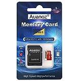 Scheda Di Memoria TF Da 64 GB, Auanoz Ultra Class 10 UHS-I Scheda Di Alta Velocità Memoria per Telefono, Tablet e PC - Con Adattatore. (Rosso-64gb)