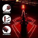 Zhilin424 1 Pcs IPX5 Wasserdichtes USB-Ladegerät für Fahrrad, Spiderman, L-á-s-e-r Rücklicht, Fahrrad, für Herren, Spaziergang, Nacht, Sicherheitshinweise, Rücklicht