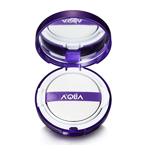 AQUA+ Natural Glow Moisturizing Air Cushion Foundation, compatible w/ all skin type, best for Luminous Coverage, Tightening, Repairing of your skin, w/ Hyaluronic Acid, Collagen, CC cream SPF25 - 15g