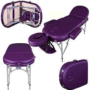 Table de massage pro luxe - Massage Imperial - Portable Consort - Aluminium/Mousse 7cm - Couleur : Vlet