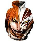 Hoodie Anime Cartoon Naruto Tokyo Ghoul Dragon Ball Unisex Hoodies Kapuzenpullover QY-05 XXL/XXXL