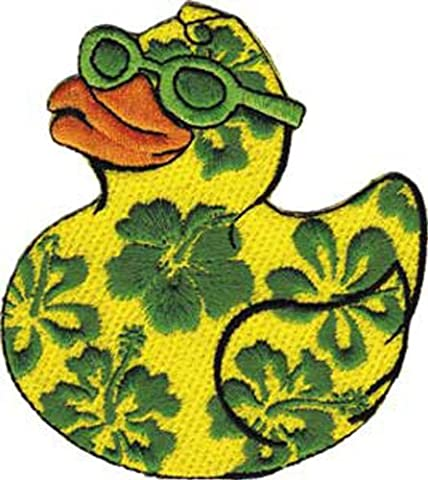 Patch - Animals - Hibiscus Duck Iron On Gifts New Licensed p-4047