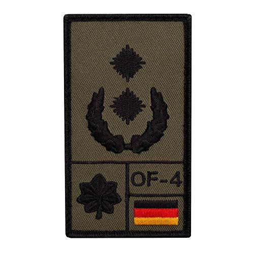 Café Viereck ® Oberstleutnant Bundeswehr Rank Patch mit Dienstgrad - Gestickt mit Klett - 9,8 cm x 5,6 cm