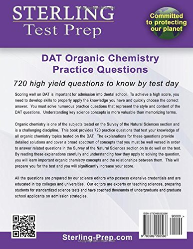 Sterling Test Prep DAT Organic Chemistry Practice Questions High Yield DAT Questions