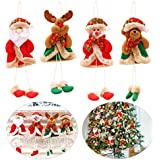 Outgeek 4PCS Christmas Hanging Doll Ornament Creative Christmas Decoration Hanging Decoration