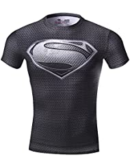 Cody Lundin Super Héros hommes compression t - shirt mouvement collants vêtements fitness Jogging exercice shirt