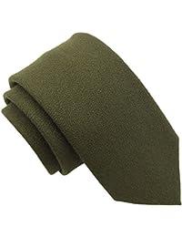 Olive Green Wool Tie
