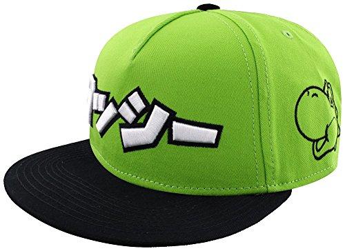 Meroncourt Unisex Nintendo Super Mario Bros. Japanese Yoshi Logo Snapback Baseball...
