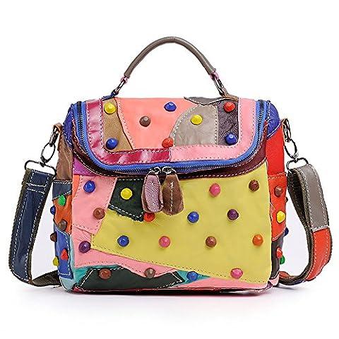 Chlln Europäische Und Amerikanische Mode - Handtasche Neue Handtasche Mode - Handtasche Und Patchwork - Leder - Tasche Frauen Farbe,Farbe