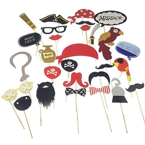 E-muse Piraten Partei Kindergeburtstags oder Hochzeit Foto Requisite Verkleidung (Piraten Requisiten)