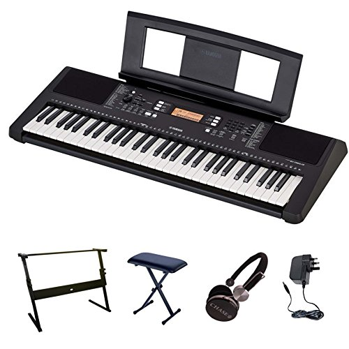 Yamaha psr e363 keyboard bundle with z shaped stand bench for Yamaha credit application
