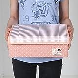 Sivin DOT rosa pieghevole Storage box Bra Underwear organizer per armadio cassetto divisore, Microfibra, Dot Pink, 16-Cells(Space adjusted freely 32×32×12cm)
