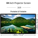 "Outdoor Portable Movie Screen 84 Inch 84"" Foldable Projection Screen 16:9 HD Home Cinema Theater Projector Screen For Indoor Or Outdoor"