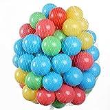 100 Stück HSM Bälle für Pop Up Bällebad Spielhaus Kinderzelt Baby Spielzelt Babypool ø 5,5 cm