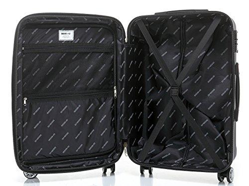 BEIBYE TSA-Schloß 2080 Zwillingsrollen 3 tlg. Reisekofferset Koffer Kofferset Trolley Trolleys Hartschale (Dunkelblau) - 7