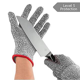 RUNACC Schnittfeste Handschuhe Lebensmittelqualität Sicherheitshandschuhe Schutzhandschuh Küche Handschutz Handschutz Handschuhe 1 Paar