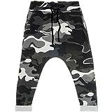 BEZLIT Kinder Jungen Camouflage Pump Pluder Harems Aladin Baggy Stoff Lange Hose 21045 Grau Größe 152
