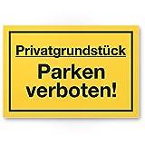 Privatgrundstück - Parken Verboten Kunststoff Schild, Parkverbotsschild Grundstück - Parkverbot/Halteverbot, Privatgrund - Hinweisschild, Verbotsschild abgestellte Fahrzeuge