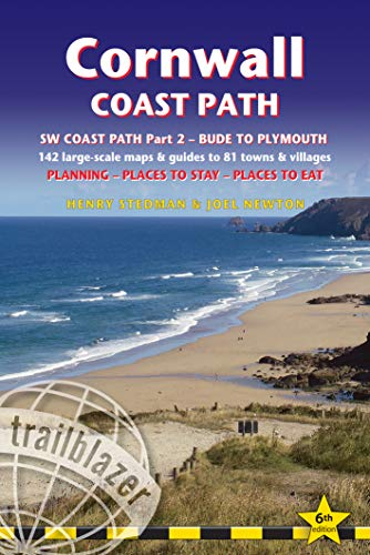 Cornwall Coast Path: South West Coast Past Part 2 Bude to Plymouth - GPS Waypoints (British Walking Guides)