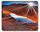 1art1 89298 Schluchten - Mittagssonne Über Dem Mesa Arch, Canyonlands National Park, USA Mauspad 23 x 19 cm