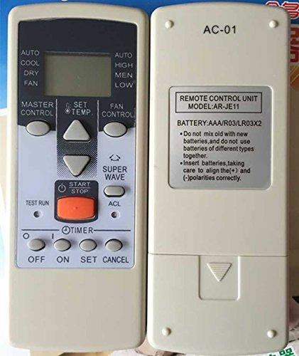 General mando a distancia de repuesto para Fujitsu ar-je9ar-je10ar-je12ar-pv423aire acondicionado
