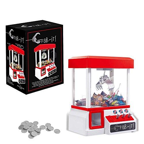 Bayram® Süßigkeiten Automat für Zuhause | Candy Grabber mit Münzeinwurf | Greifmaschine für Kinder & Familie | Lustige Spiele für Kinder - Bonbon Arcade Maschine Jahrmarkt Spielautomat
