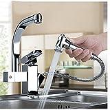 ZCYJDSG Wasserhahn Küchenarmaturen Pull Out Dusche Sprayer Deck Montieren Waschbecken Behälter Spülbecken Wasserhahn Dual Auslauf Für Küchenarmaturen