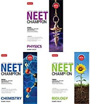 NEET Champion- Set of 3 Books(Physics,Chemistry and Biology for NEET 2021)