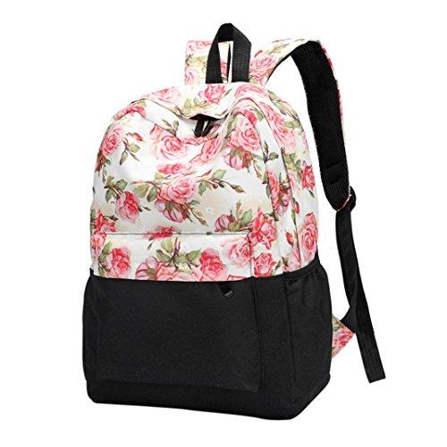 Schnalle Baguette-handtasche (OYSOHE Mädchen Rucksack,Frischer Art Frauen Rucksack Blumendruck Bookbags weiblicher Reiserucksack)