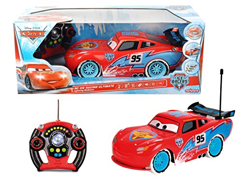 Majorette - 213089594 - Cars Flash Mc Queen Ice - Véhicule Radio - Commandé - Echelle 1/12ème