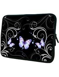 Luxburg® design housse sacoche pochette pour ordinateur portable 10,2 pouces, motif: Femme avec capuche