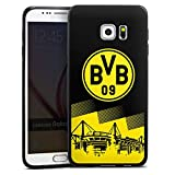 DeinDesign Samsung Galaxy S6 Edge Plus Slim Case schwarz Silikon Hülle Schutzhülle BVB Logo Borussia Dortmund
