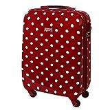 Karry Hartschalen Reise Koffer TSA Handgepäck 55 x 40 x 20 Ryanair geeignet 30 Liter Punkte Rot 813 / 818