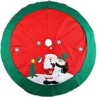 Zogin Tappetino per la Base dell'Albero di Natale Copre il Piede dell'Albero Nascondendo il Brutto Piedistallo di Ferro Decorazioni Natalizie - 100cm