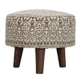 #7: NestRoots Hand Knitted Grey   Pouf   Ottoman   Stool   Footstool