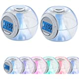 2 x réveils DEL RVB éclairage table de chevet horloge changeur couleurs LED