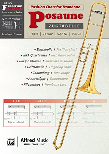 Alfred's Fingering Charts Instrumental Series: Zugtabelle Posaune | Position Chart Trombone  |  Posaune  |  Buch