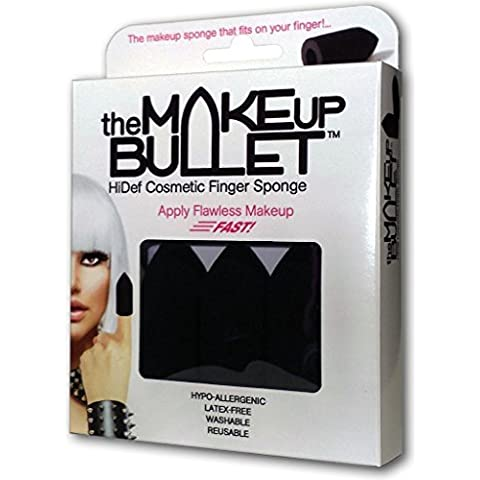 The Makeup Bullet™ Finger Sponge (Black, 3-Pack) - The Most Versatile Makeup Sponge - Washable, Reusable, Used Wet or Dry, Latex-Free
